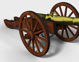 3D Cannon military