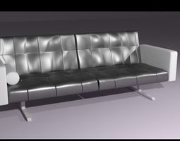Leather Couch-Sofa 3D