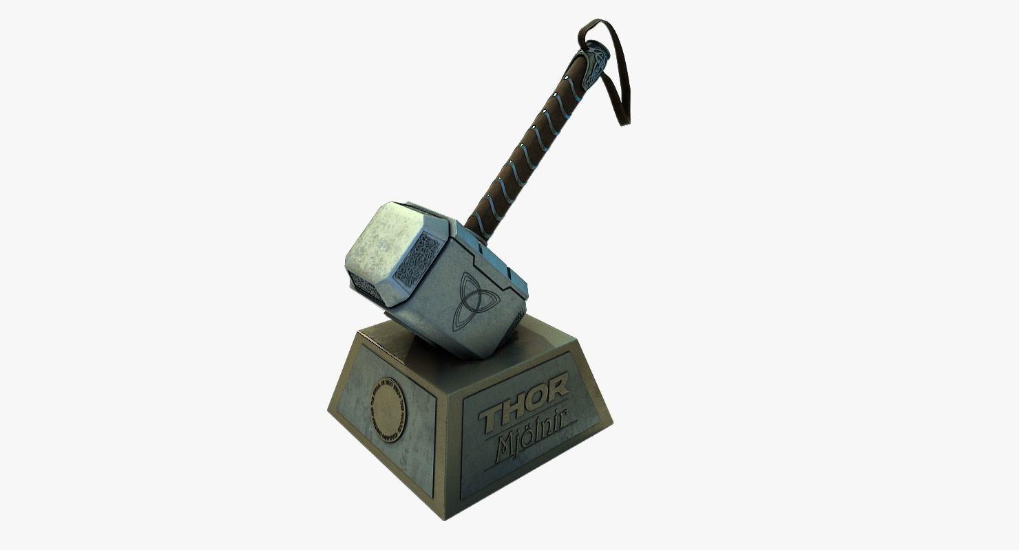 3d Model Thor Hammer Mjolnir Cgtrader