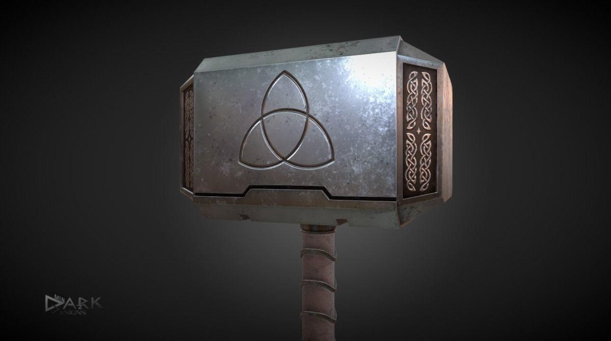 Mjolnir Thors Hammer 3d Asset Cgtrader