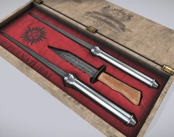 3D Supernatural Knife Box