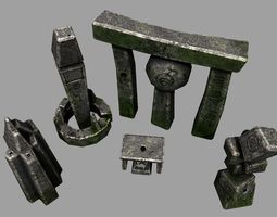 3D model Ancient Alien Monolith Pack