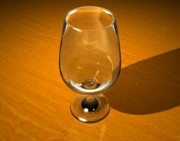 stemmed beer glass 3d model