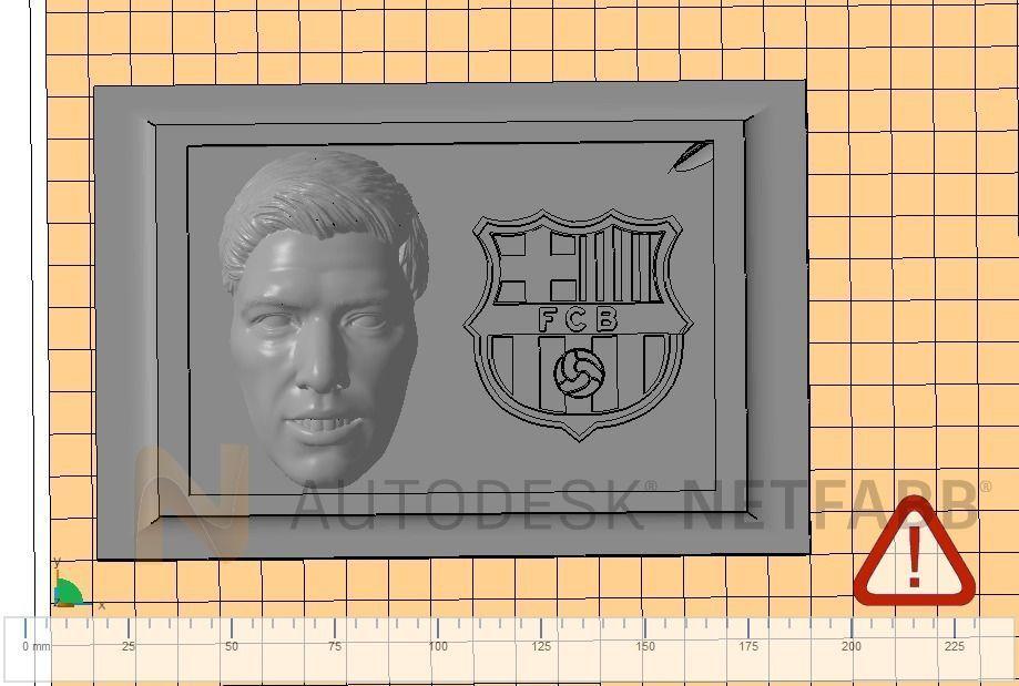 Luis Suarez - FC Barcelona - 3D print ready frame
