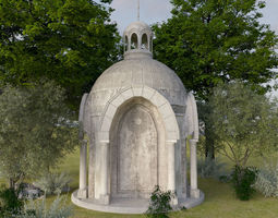 3D model architectural Crypt