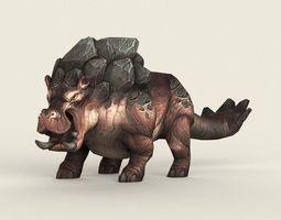 Game Ready Monster Hippopotamus 3D model