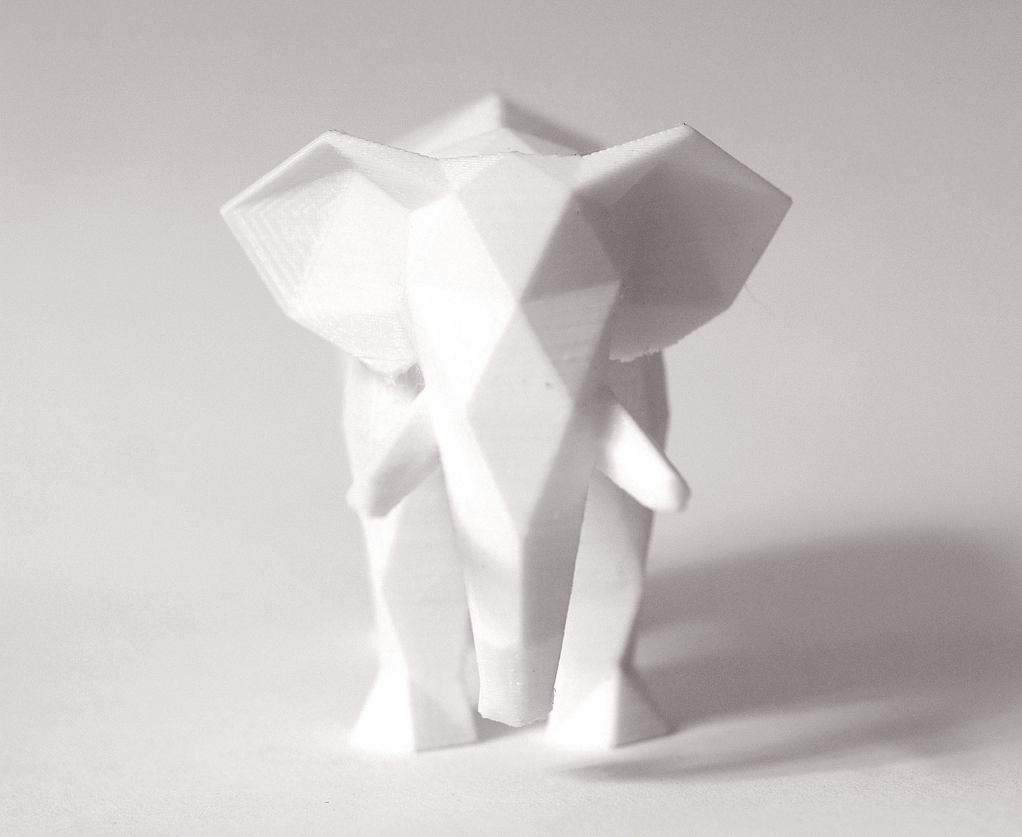 Elephant Faceted Sculpture 3d Model 3d Printable Obj Stl