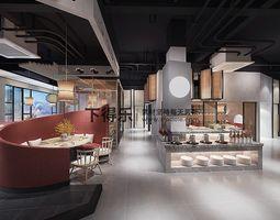 3D print model restaurant cafe
