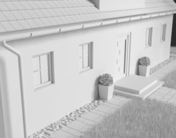 One Family House 3D asset