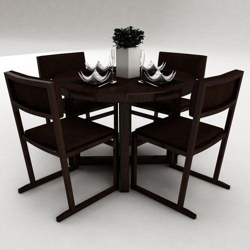 Dining table set 33 3d model max obj 3ds fbx for New model dining table
