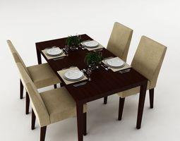 Dining table set 34 3D Model