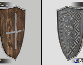 Medieval Shield Pack 2 in 1 3D model