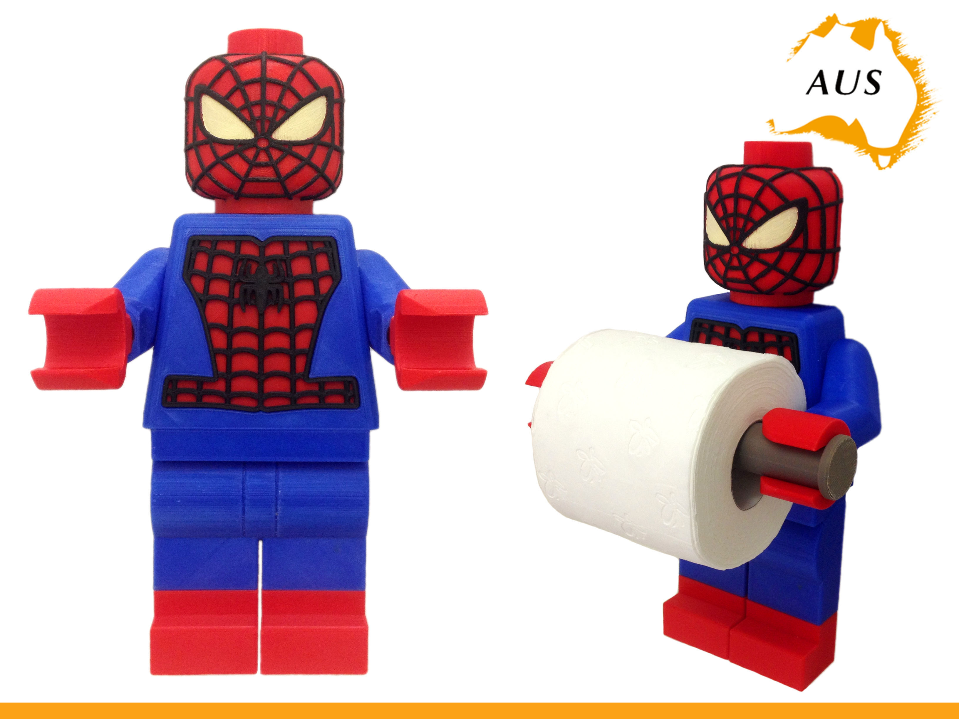 Lego Spider Man Toilet Roll Holder Bathroom Decor 3d Print Model