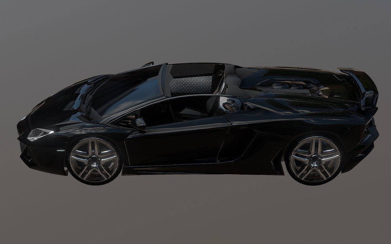 3d Model Lamborghini Aventador Roadster Black Cgtrader