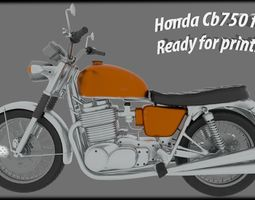 3D print model Terminator Honda CB750 Four with fairing
