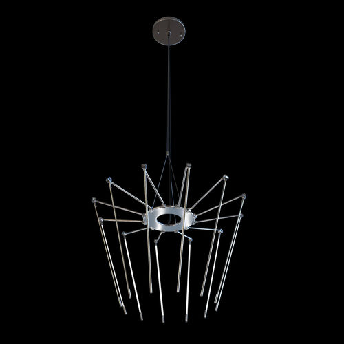 solid brass contemporary small chandelier with thin adjustable l 3d model max obj mtl 3ds fbx mat 1