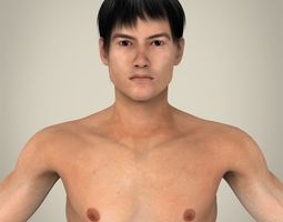 Realistic Young Asian Man 3D Model