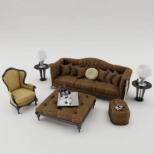Sofa set 0023D model