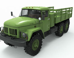 zil 131 3d model realtime