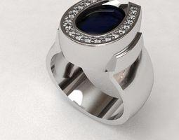 Horseshoe ring 3D print model