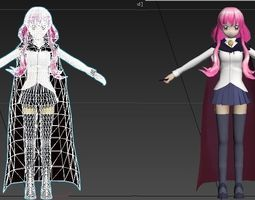 Louise zero no tsukaima VR - AR - low-poly VR / AR ready 1