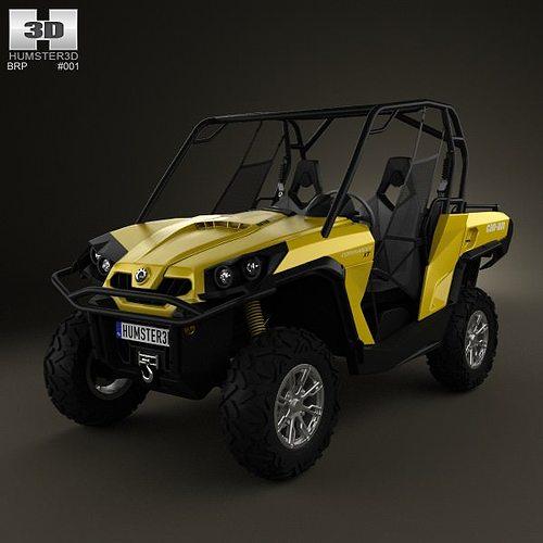 brp can-am commander xt 2012 3d model max obj mtl 3ds fbx c4d lwo lw lws 1