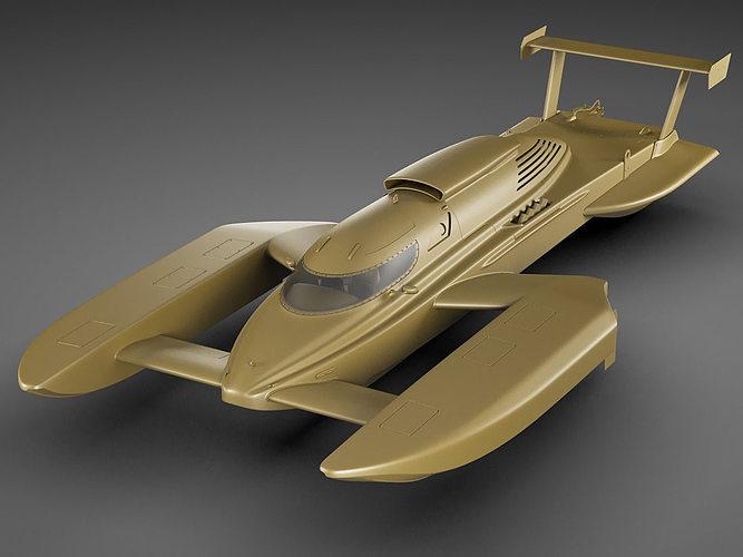 Hydroplane Boat Annihilator 3D Model MAX OBJ 3DS FBX C4D ...