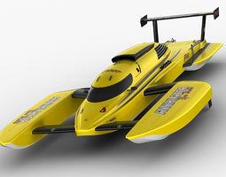 Hydroplane Boat Annihilator 3D Model