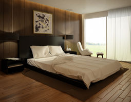 Interior Bedroom Day 001 3D model