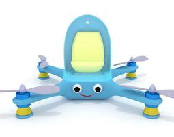 3D model Cartoon Quadcopter