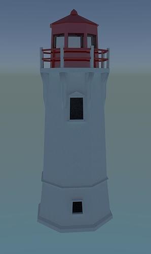 low poly lighthouse 3d model obj 3ds blend dae mtl 1