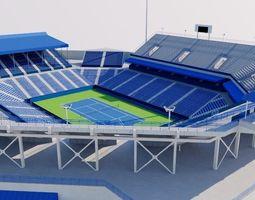 3D asset William H G FitzGerald Tennis Center