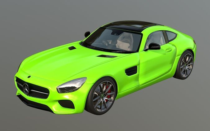Mercedes Amg Gt Electric Drive Model Obj Mtl S Fbx Stl Blend Dae 1