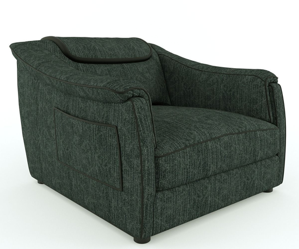 Loveseat and armchair3D model