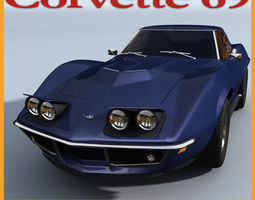 Chevrolet Corvette 69 3D Model