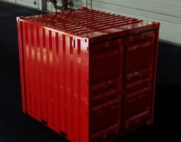 3D model 10FT ISO Shipping Container
