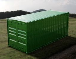 20FT ISO Shipping Container container 3D