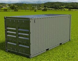 3D model 20FT ISO Shipping Container