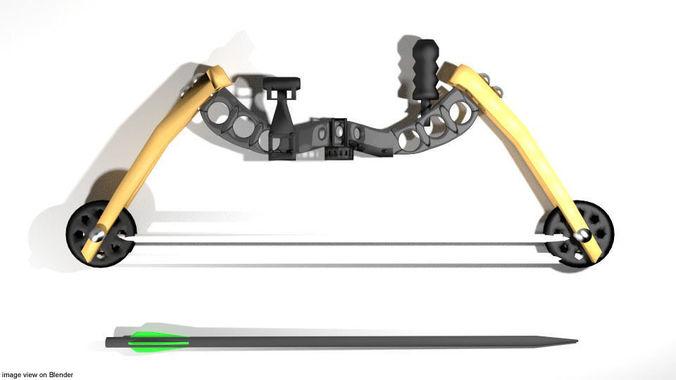bow-and-arrow-compound-3d-model-obj-3ds-