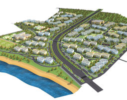Residential district 3D model