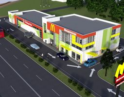 3D shopping center architectural