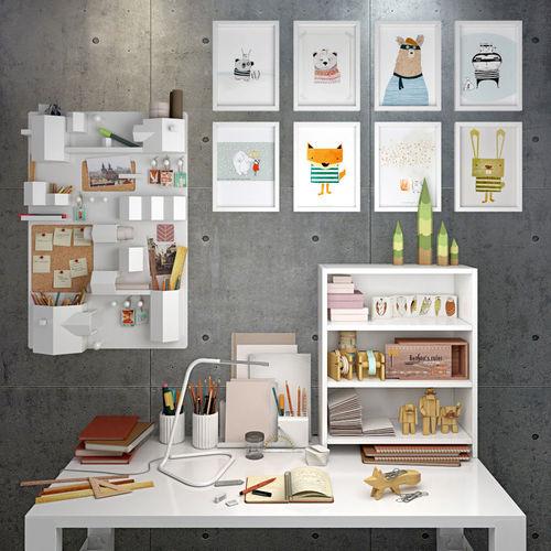 decorative set of the office supplies 3d model max 3ds fbx 1