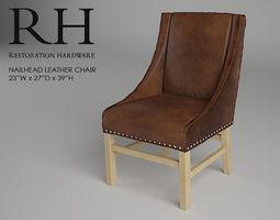 restoration hardware nailhead leather chair 3d