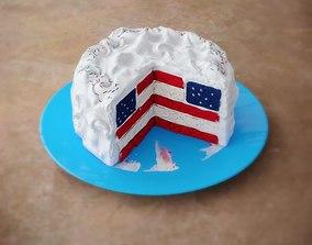 3D American National Cake