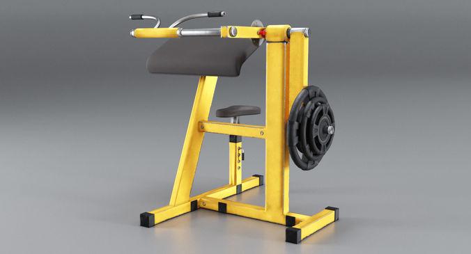 simulator for biceps 3d model max obj mtl fbx blend 1