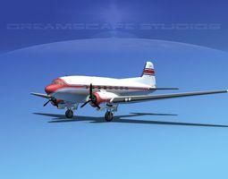 Douglas DC-3 Private 2 3D Model
