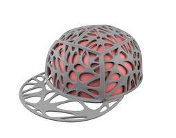brain cap 3d model obj stl