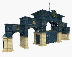 iron art classical gate 3d