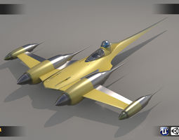 Jedi Ship 3D asset