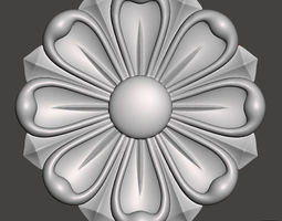 3D printable model Flower bas-relief for cnc FLCFC0A